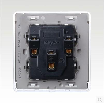 2015新TCL墙壁开关插座面板 楷航纯白86系列 五孔插座厂家直销