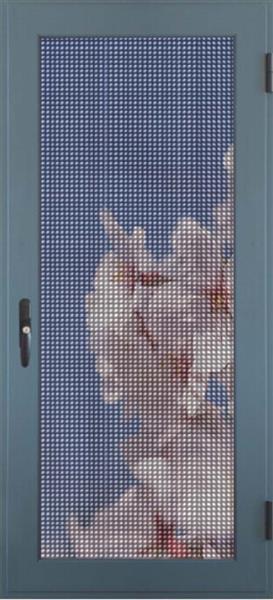 佛山诺盾门窗65款铝合金平开纱窗防盗纱窗金刚纱网