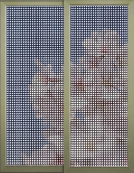 佛山诺盾门窗铝合金金刚纱网防护片纱推拉窗纱窗