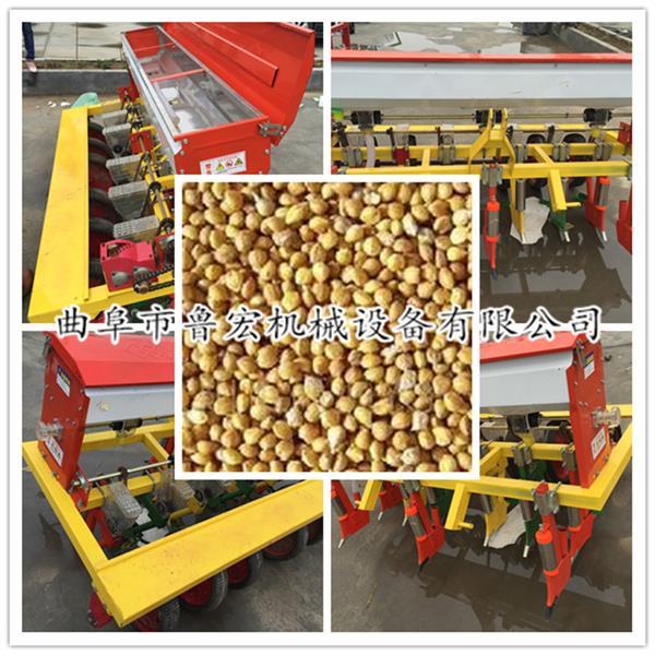 小型四轮带动花生播种机 厂家批发花生玉米播种机